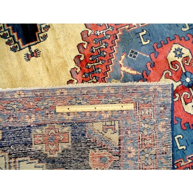 Antique Hand Knotted Persian Rug - 10 X 7 - Image 9 of 11