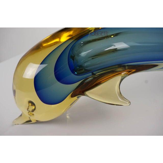 Art Glass Dolphin Sculpture Murano, Italy by L. Omesto for Oggetti - Image 2 of 10