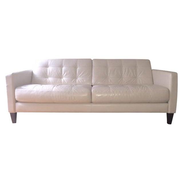 Macy S Milan Leather Sofa Chairish