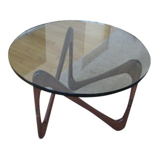 Mid-Century Moebius Walnut Table