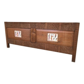 Antique Hand-Carved Headboard