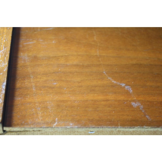 Mid-Century Book-Match Walnut End Tables - A Pair - Image 6 of 10
