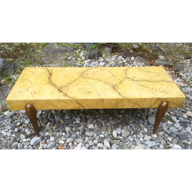 Mid Century Faux Marble Coffee Table - Image 7 of 7