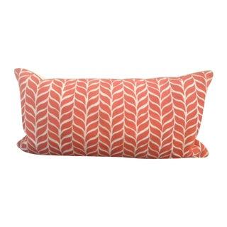 Orange Patterned Lumbar Pillow