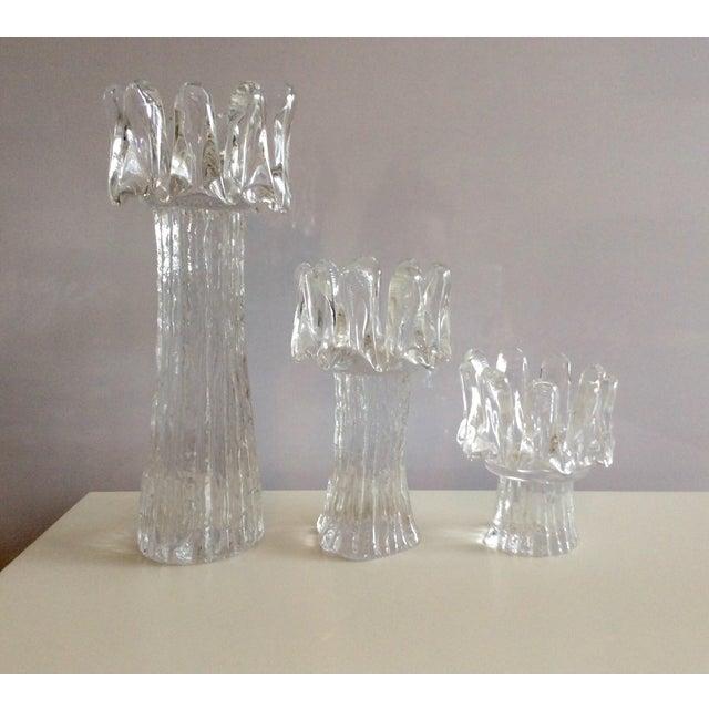Image of Swedish Glass Candle Holders - Set of 3