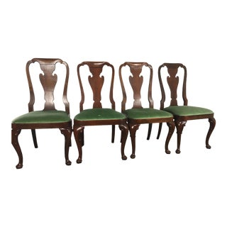 Baker Green Upholsted Side Dining Chairs - Set of 4