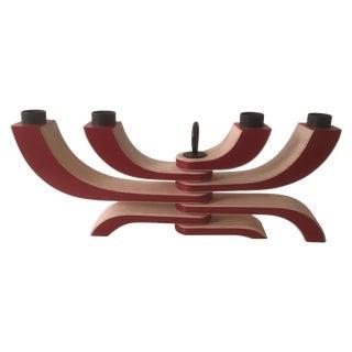 Design House Stockholm Red 4-Arm Candleholder