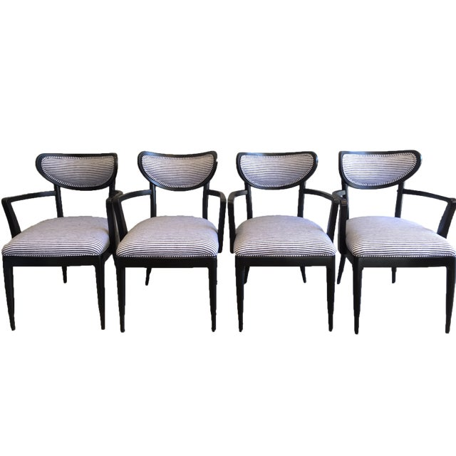 Mid-Century Crescent Back Dining Chairs - Set of 4 - Image 1 of 10