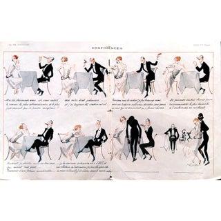 """1922 La Vie Parisienne """"Confidences"""" Print"""
