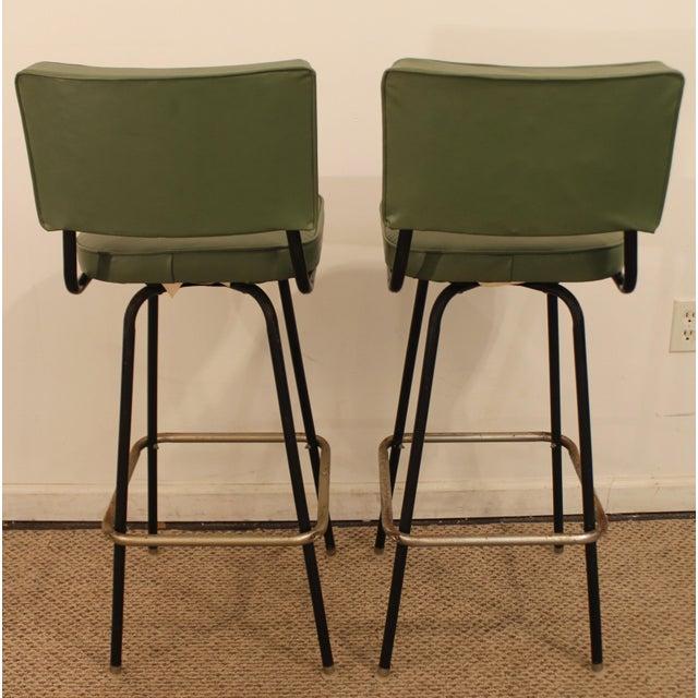 Danish Counter Seat: Danish Modern Atomic Swivel Bar Stools - A Pair