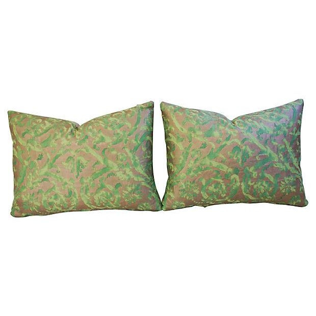 Designer Italian Fortuny Farnese Pillows - A Pair - Image 6 of 7