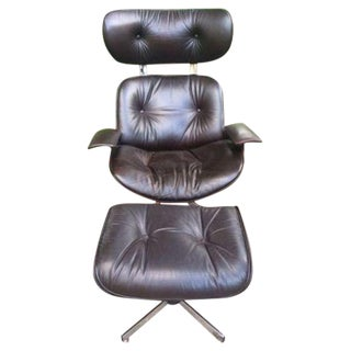 Restored 1960's Plycraft Eames Style Chair With Ottoman
