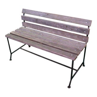 Outdoor Bench From Reclaimed New York City Boardwalk Wood