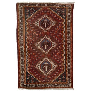 """Hand Knotted Wool Persian Shiraz Rug - 4'5"""" X 6'8"""""""