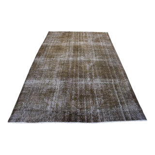 "Brown Turkish Overdyed Rug - 6'9"" X 10'6"""