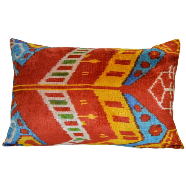 Image of Finley Silk Velvet Ikat Companion Pillow