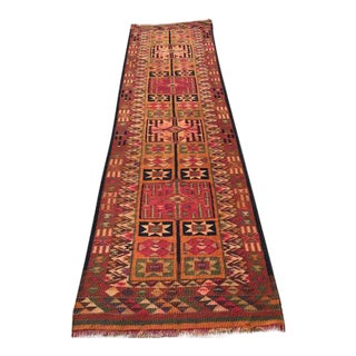 Vintage Turkish Kilim Runner - 2′11″ × 12′2″