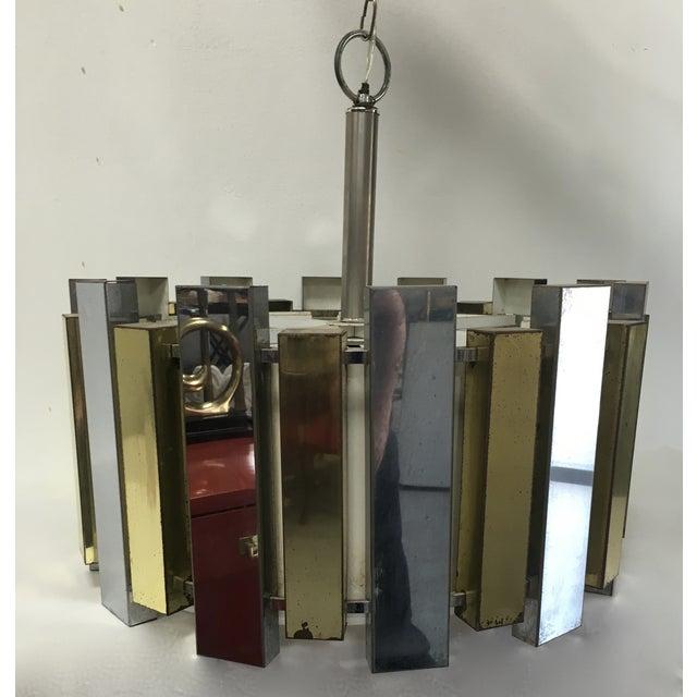 Mid-Century Brass Chandelier - Image 6 of 6