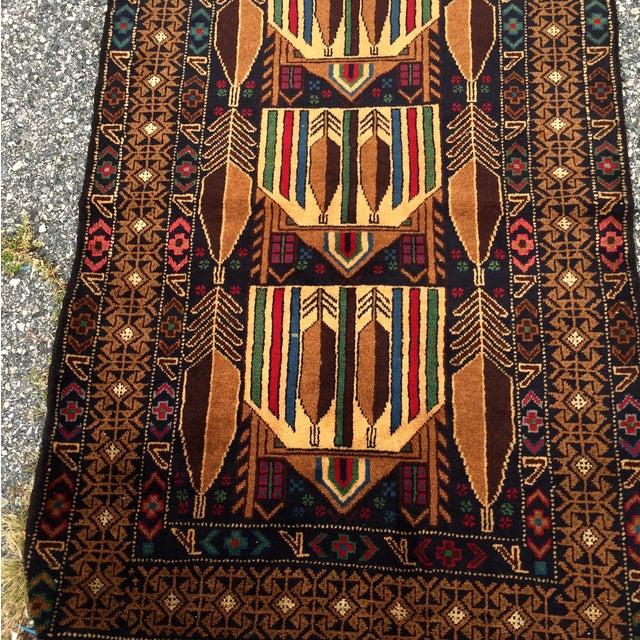 "Vintage Handmade Persian Baluchi Rug - 2'10""x4'7"" - Image 3 of 10"
