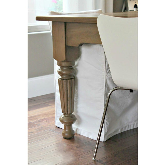 Rustic Farmhouse Dining Table - Image 3 of 9