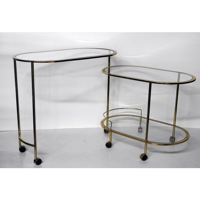Mid century modern bar cart or cocktail table chairish for Mid century bistro table
