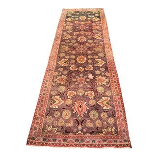 "Rare One Of A Kind Vintage Persian Kashmir Bi-Color Runner 3'1""x9'10"""