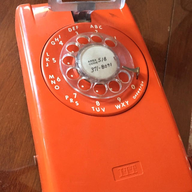 Vintage Orange Wall Phone - Image 6 of 12