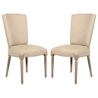 Spectra Home French Carved Wood Dining Chairs - A Pair