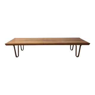 "Dunbar ""Long John"" Walnut Bench"