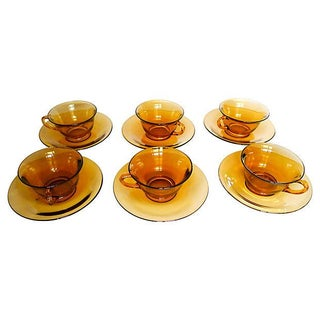 Amber Glasses - Set of 6