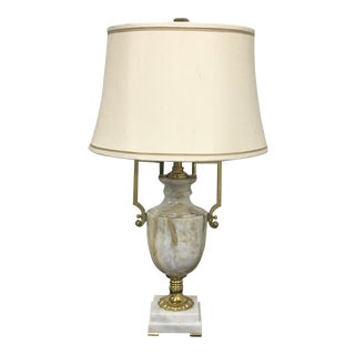 Maitland-Smith Marble & Brass Urn Table Lamp
