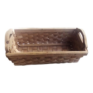 Tan Lattice Weave Basket