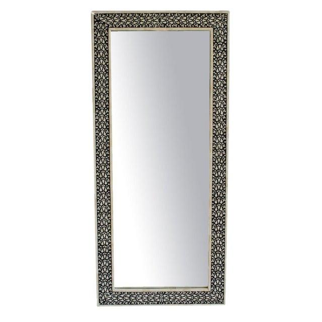 Black white full length mirror chairish for White full length mirror