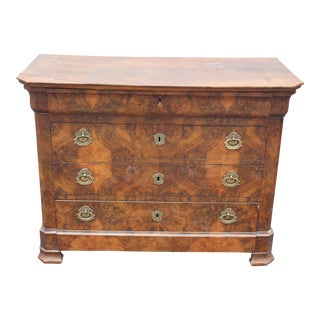 C. 19th Louis Phillipe Burl Rosewood Chest of Drawers