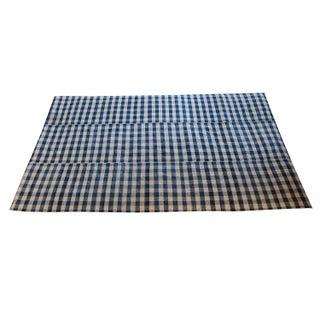 "Antique Turkish Wool Plaid Flatweave -- 5'7"" x 9'5"""