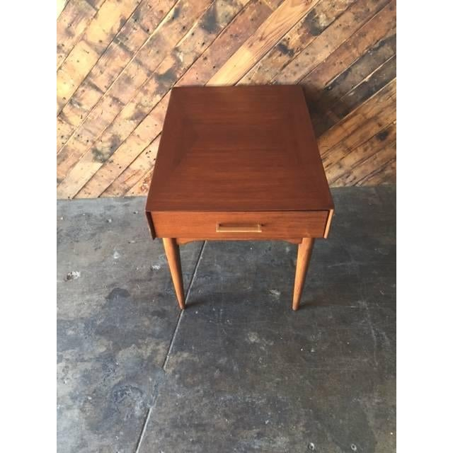 Mid-Century Refinished Side Table With Drawer - Image 6 of 6