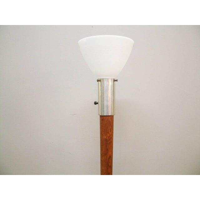 Walnut Floor Lamp Attributed to Vladimir Kagan - Image 4 of 7