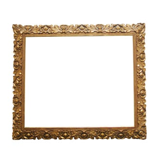 19th Century Carved Giltwood & Gesso Baroque Frame