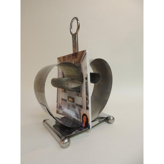 Norman bel geddes vintage art deco magazine rack chairish for Vintage küchenm bel