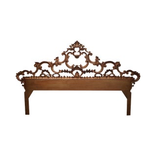 1950s Gilt Metal Gold Rococo King Size Headboard