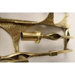 Image of Mid-Century Brutalist Brass Lamp Candle Holder