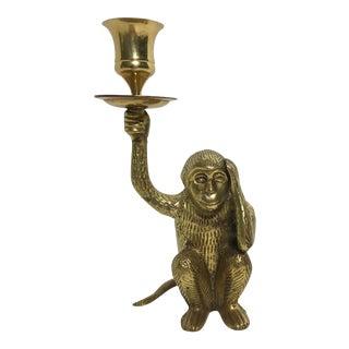 Vintage Brass Monkey Candle Holder