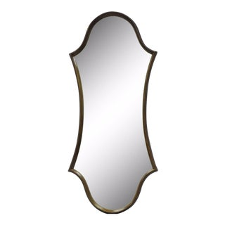 Hollywood Regency Gold Wood Frame Hourglass Wall Mirror