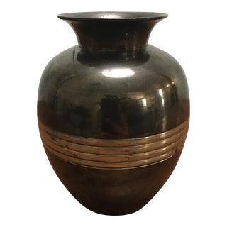 Vintage Art Deco Metal Bud Vase