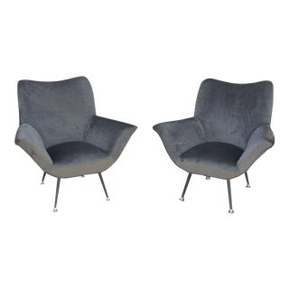 Pair of Italian Open-Arm Chairs