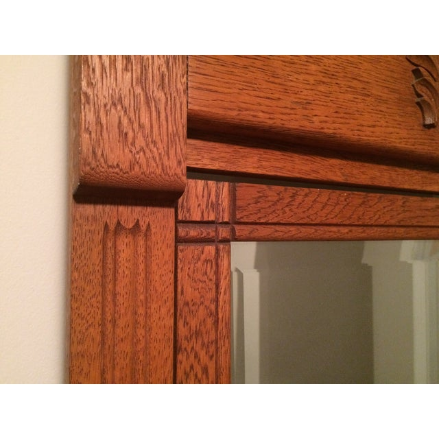 Oak Gentleman's Dresser With Hatbox and Mirror - Image 7 of 7