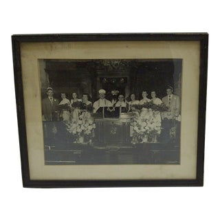 C. 1950 Jewish Graduation Pittsburgh Synagogue Black & White Photograph