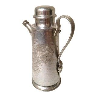 Mid-Century Hand Wrought Aluminum Cocktail Shaker