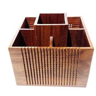 Mid-Century Modern Wooden Organizer