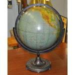 Image of Vintage Globe on Cast Iron Stand C.1920's